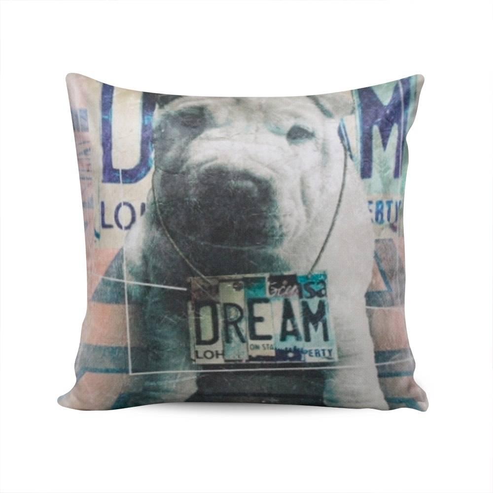 Almofada Napole Dog Dream Capa em Poliéster - 50x50 cm