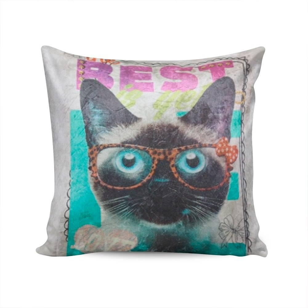 Almofada Napole O Melhor Gato Capa em Poliéster - 50x50 cm