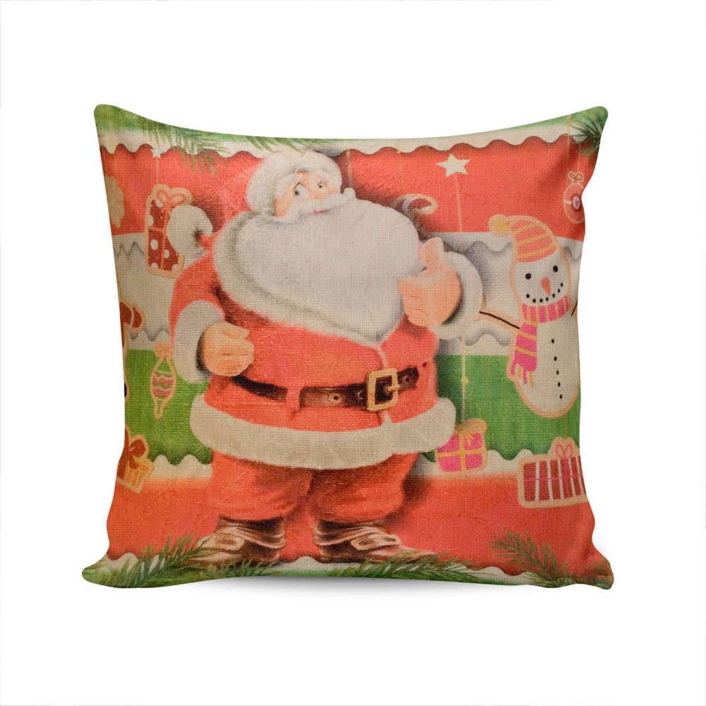 Almofada Napole Natal Papai Noel - Capa em Poliéster - 50x50 cm