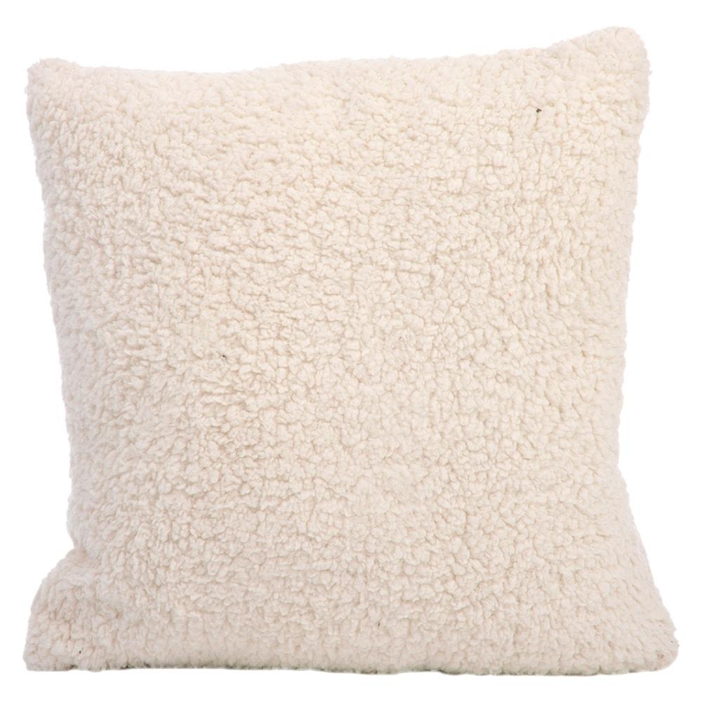Almofada Plush Branco em Tecido - 45x45 cm