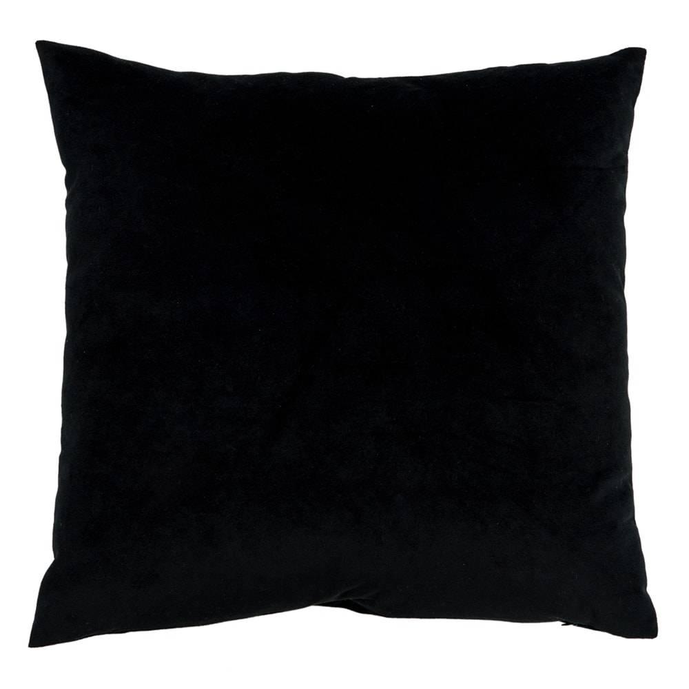 Almofada Preta Lisa com Capa em Veludo - 45x45 cm