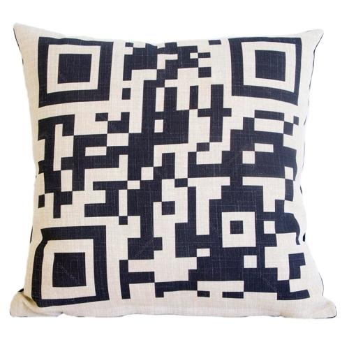 Almofada QR Code em Tecido - 45x45 cm