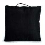 Almofada Quadrada Preta com Alça em Cetim - 40x40 cm