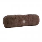 Almofada Rolo Cachorro Marrom em Poliester - 45x14 cm