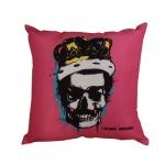 Almofada Skull Freddie Mercury em Poliéster - 43x43 cm