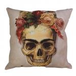 Almofada Skull Frida Kahlo em Poliéster - 43x43 cm
