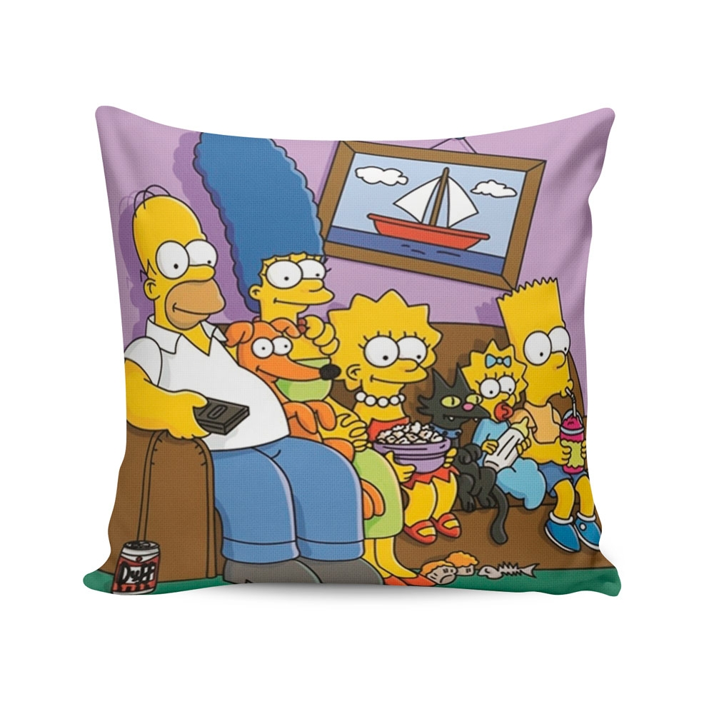 Almofada The Simpsons no Sofá - 37x37 cm