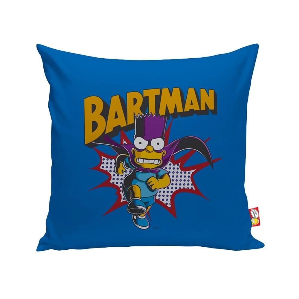 Almofada The Simpsons Bartman Azul em Poliéster - 40x40 cm
