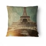 Almofada Torre Eiffel em Poliéster - 43x43 cm