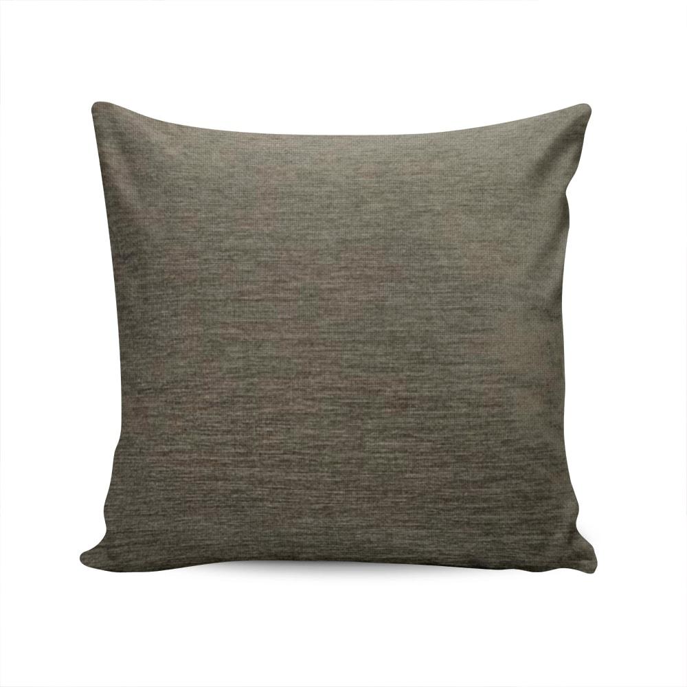 Almofada Turin Cinza Escuro com Capa em Chenile - 45x45 cm