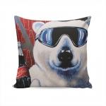 Almofada Urso Polar Coca-Cola - 37x37 cm