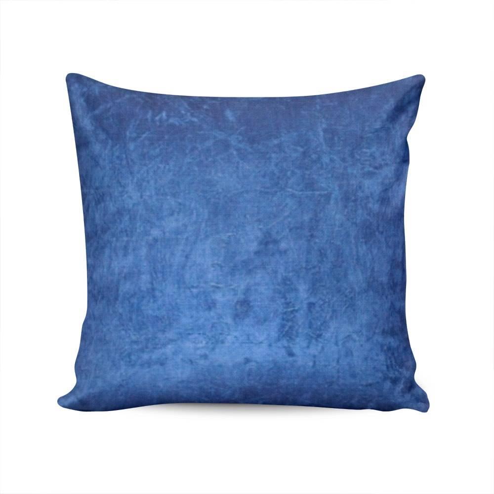 Almofada Valencia Azul Bic Capa em Poliéster - 45x45 cm