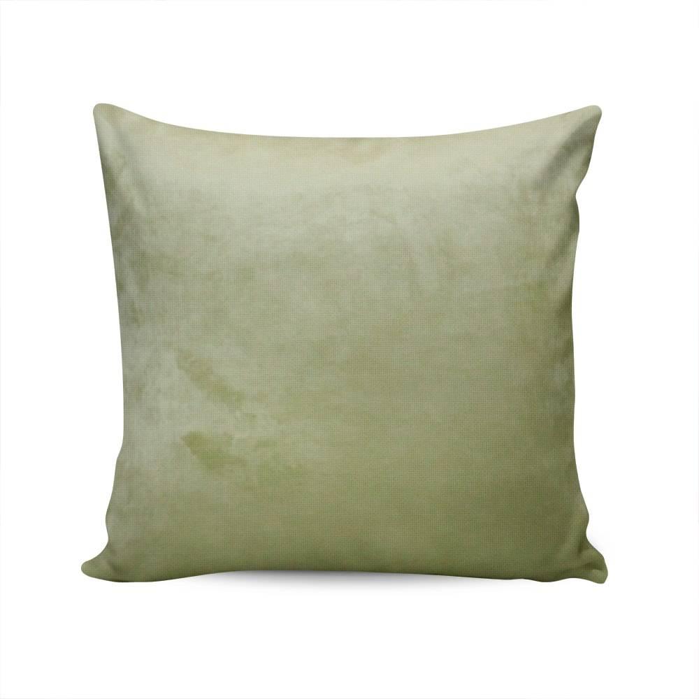 Almofada Veludo Liso Verde Capa em Poliéster - 45x45 cm