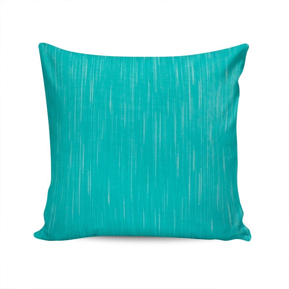 Almofada Waterblock Azul com Capa em Algodão - 45x45 cm