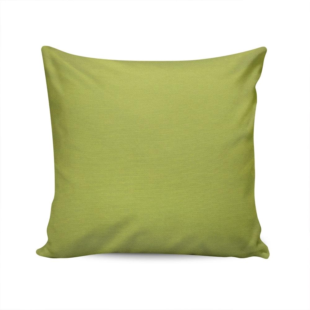 Almofada Waterblock Verde Lisa com Capa em Algodão - 45x45 cm