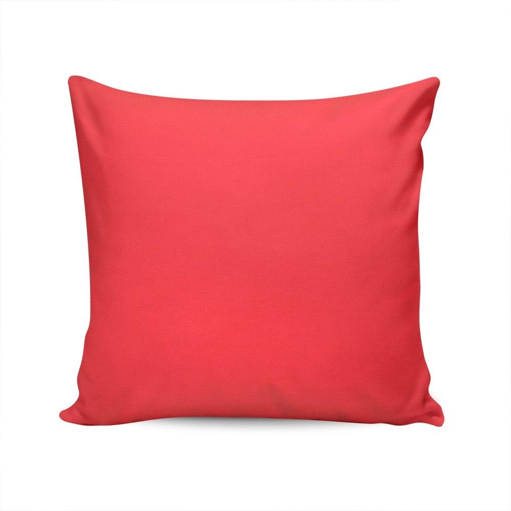 Almofada Waterblock Vermelha Lisa com Capa em Algodão - 45x45 cm