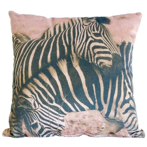 Almofada Zebra África em Tecido - 45x45 cm
