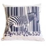 Almofada Zebra e Código de Barras em Tecido