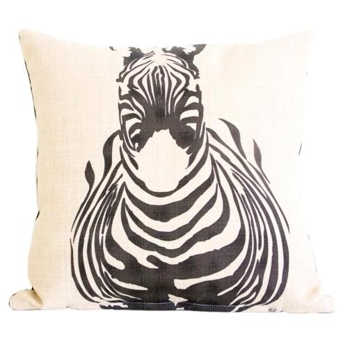 Almofada Zebra de Frente em Tecido - 45x45 cm