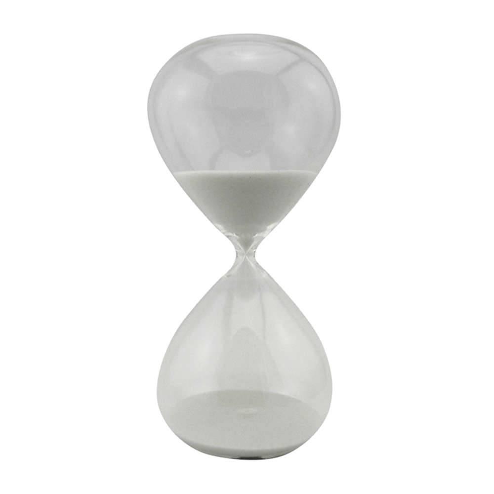 Ampulheta Clear Glass Branca 90 minutos em Vidro - Urban - 30x16 cm