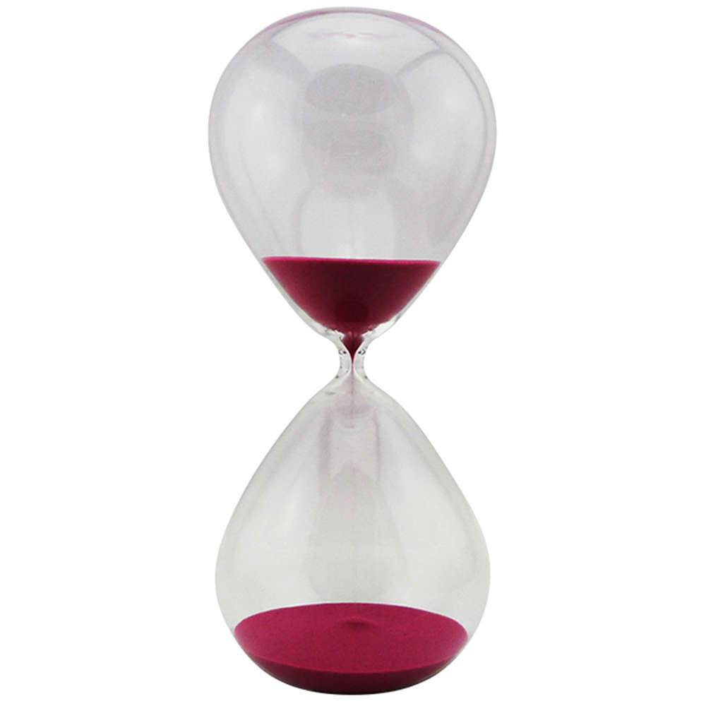 Ampulheta Clear Glass Rosa 120 minutos em Vidro - Urban - 38x18 cm