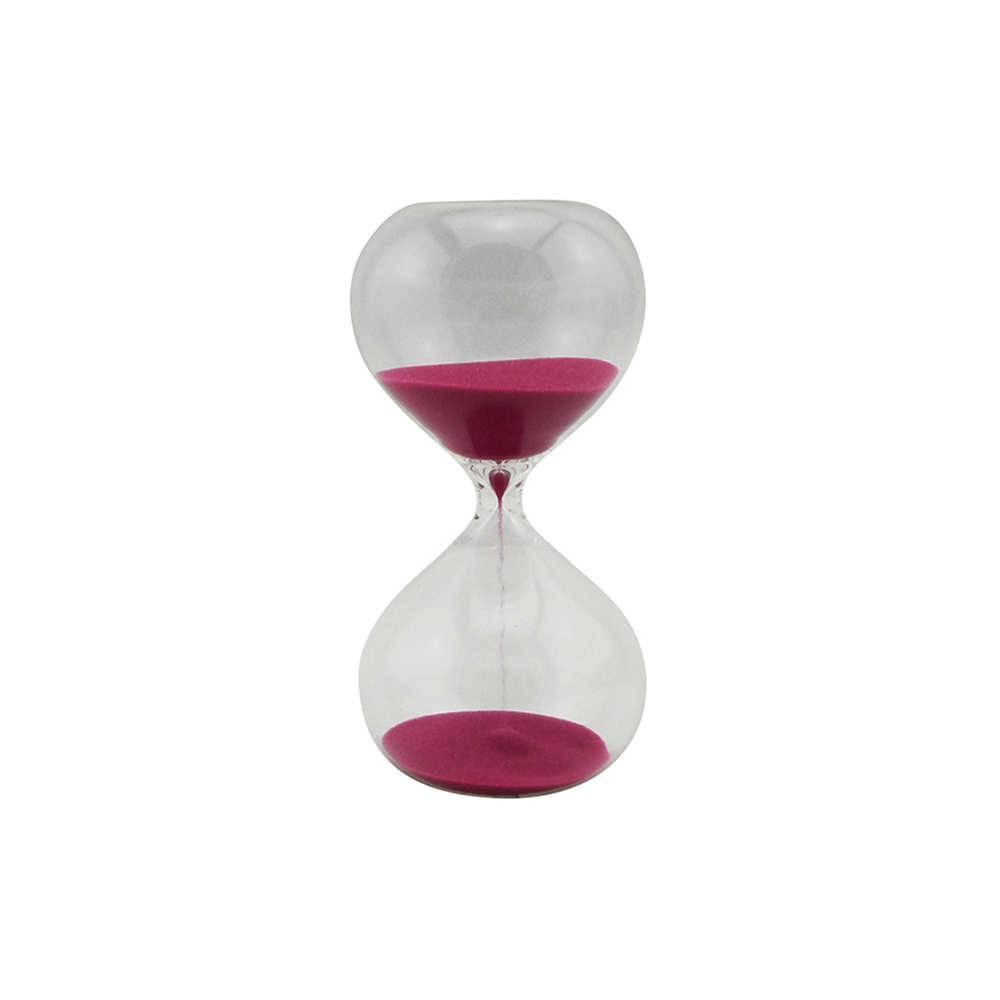 Ampulheta Clear Glass Rosa 15 minutos em Vidro - Urban - 15x8 cm