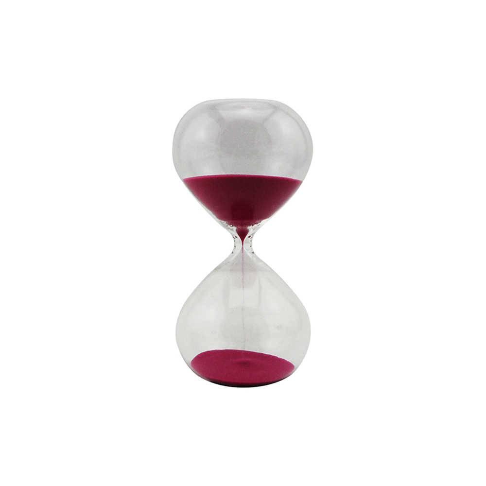 Ampulheta Clear Glass Rosa 30 minutos em Vidro - Urban - 20x10 cm