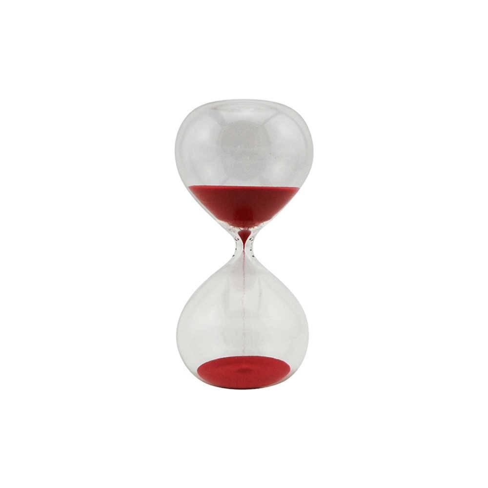 Ampulheta Clear Glass Vermelha 30 minutos em Vidro - Urban - 20x10 cm
