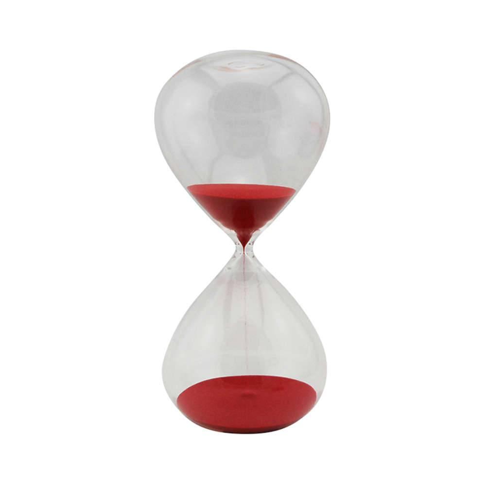 Ampulheta Clear Glass Vermelha 90 minutos em Vidro - Urban - 30x16 cm