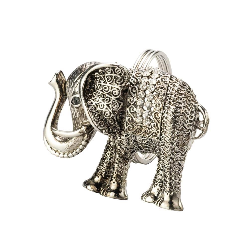 Anéis para Guardanapos Elefante Indiano em Zamac - 4 Peças - Lyor Classic