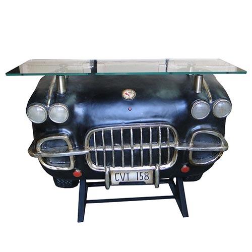 Aparador Frente de Carro 4 Faróis - Black Oldway - 123x92 cm