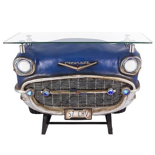Aparador Frente de Chevrolet 57 Blue Oldway - 123x92 cm