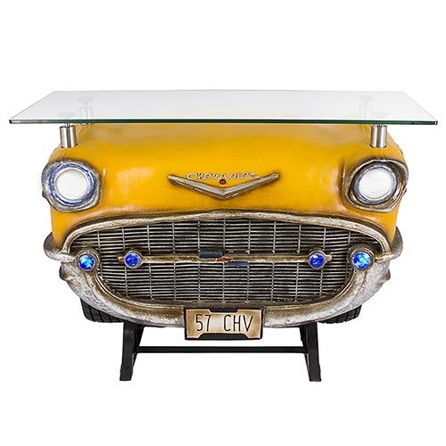 Aparador Frente de Chevrolet Yellow Oldway - 123x92 cm