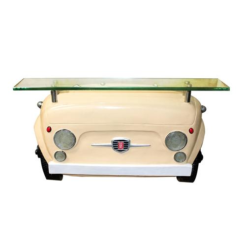 Aparador Frente Fiat 500 Amarelo Oldway - 64x37 cm
