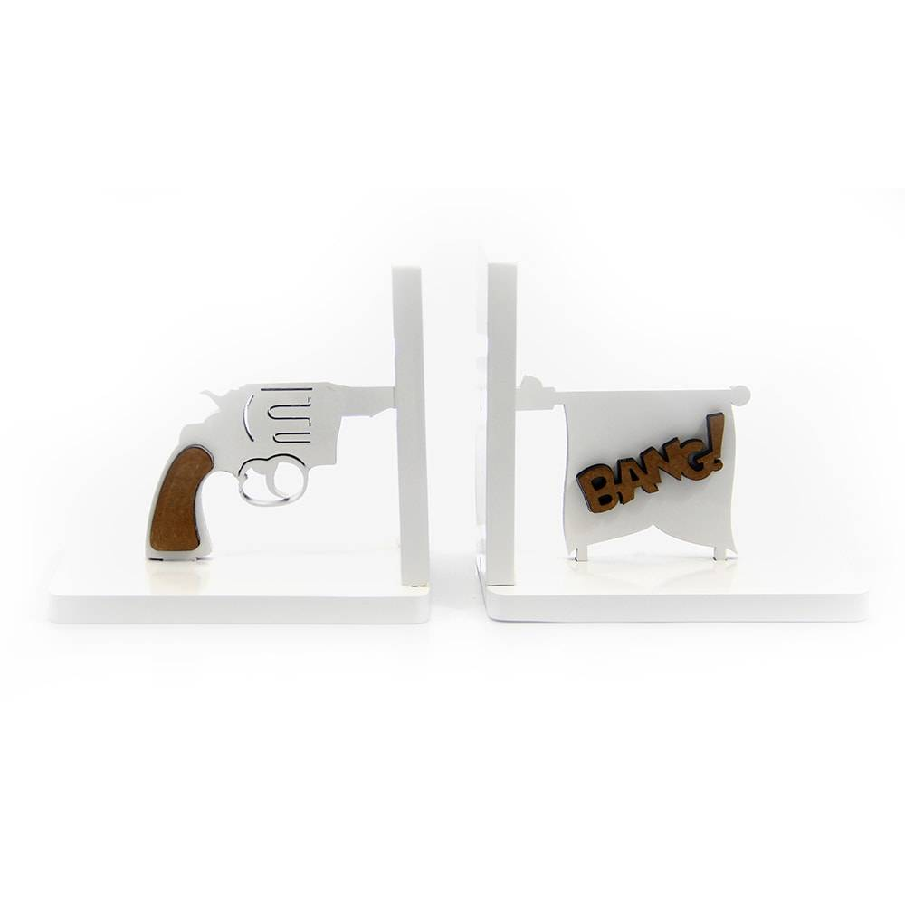 Aparador de Livros Bang Bang em MDF Laqueado - 32x12 cm
