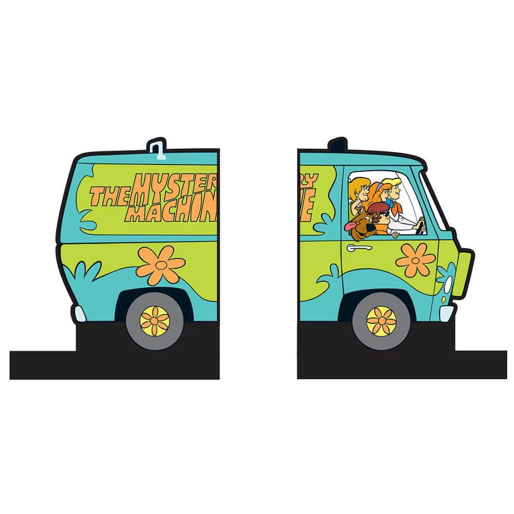 Aparador de Livros Hanna Barbera Scooby Máquina de Mistério Colorido em Madeira - Urban - 24x21 cm