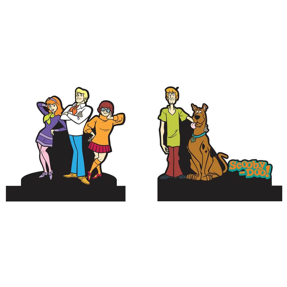 Aparador de Livros Hanna Barbera Scooby Todos os Personagens em Madeira - Urban - 24x21 cm