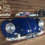 Aparador Réplica Beetle 1953 Azul Marinho - 106x55 cm