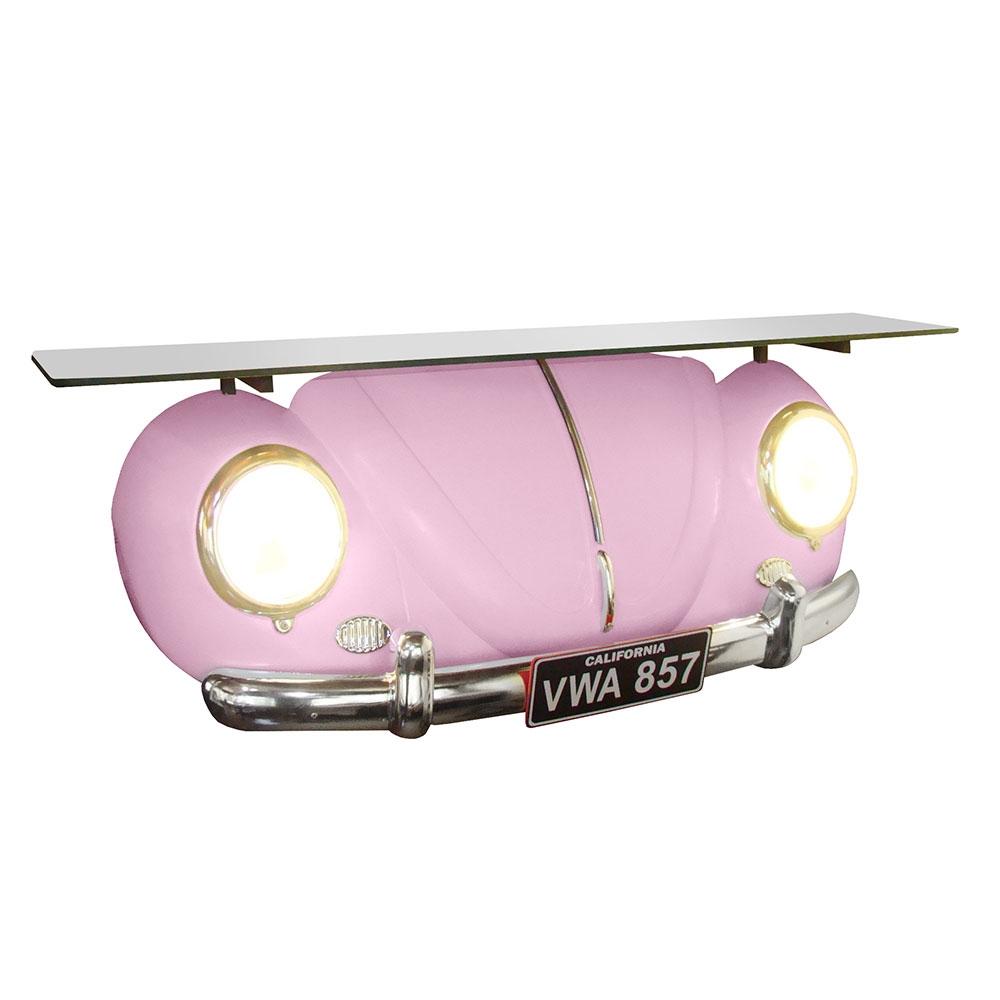 Aparador Réplica Beetle 1953 Rosa - 106x55 cm