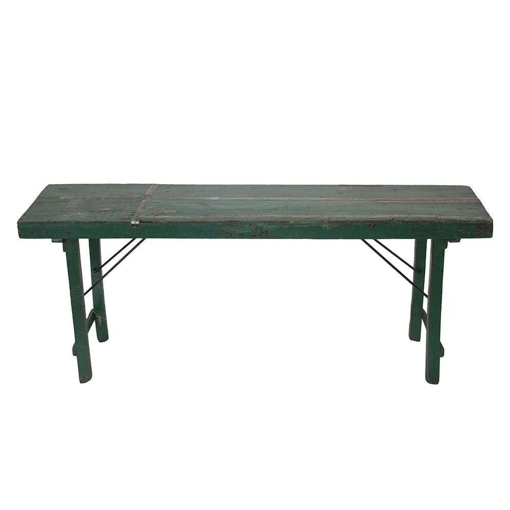 Aparador Trevor Verde Rústico em Madeira - 168x74 cm
