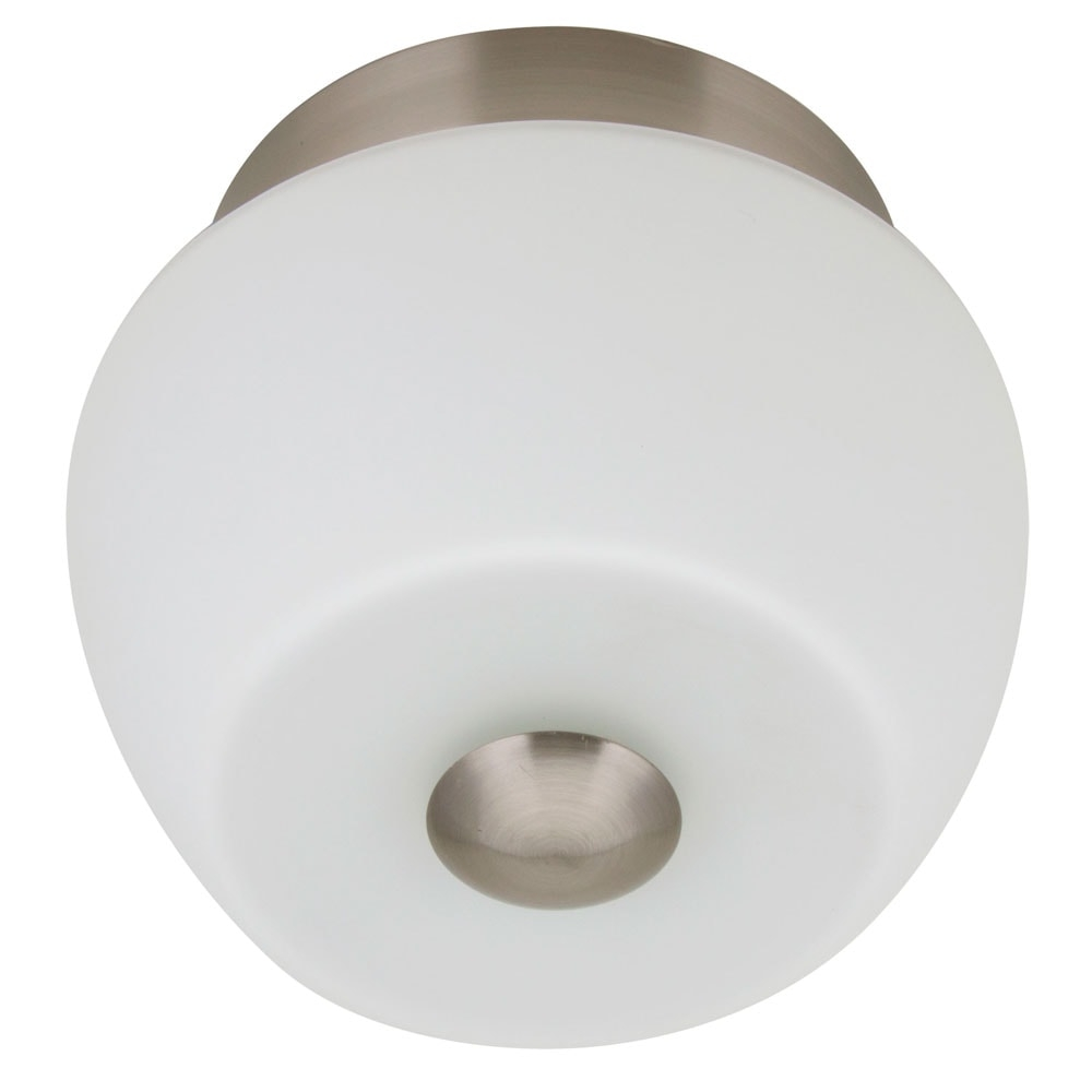 Arandela Dora Branco Pequena - Bivolt - em Metal e Vidro - 16x14 cm