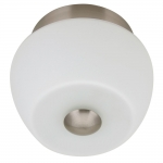 Arandela Dora Branco Pequena - Bivolt - em Metal e Vidro