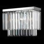 Arandela Oblong Transparente - Bivolt - em Metal e Cristais