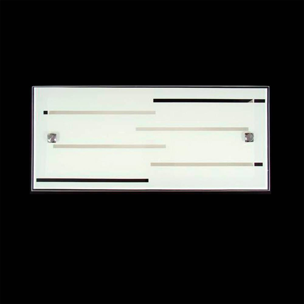Arandela Riga Branca em Vidro Temperado - 35x15 cm