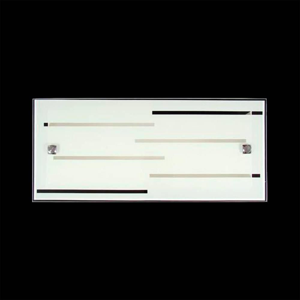 Arandela Riga Branco Grande em Vidro Temperado - 50x15 cm