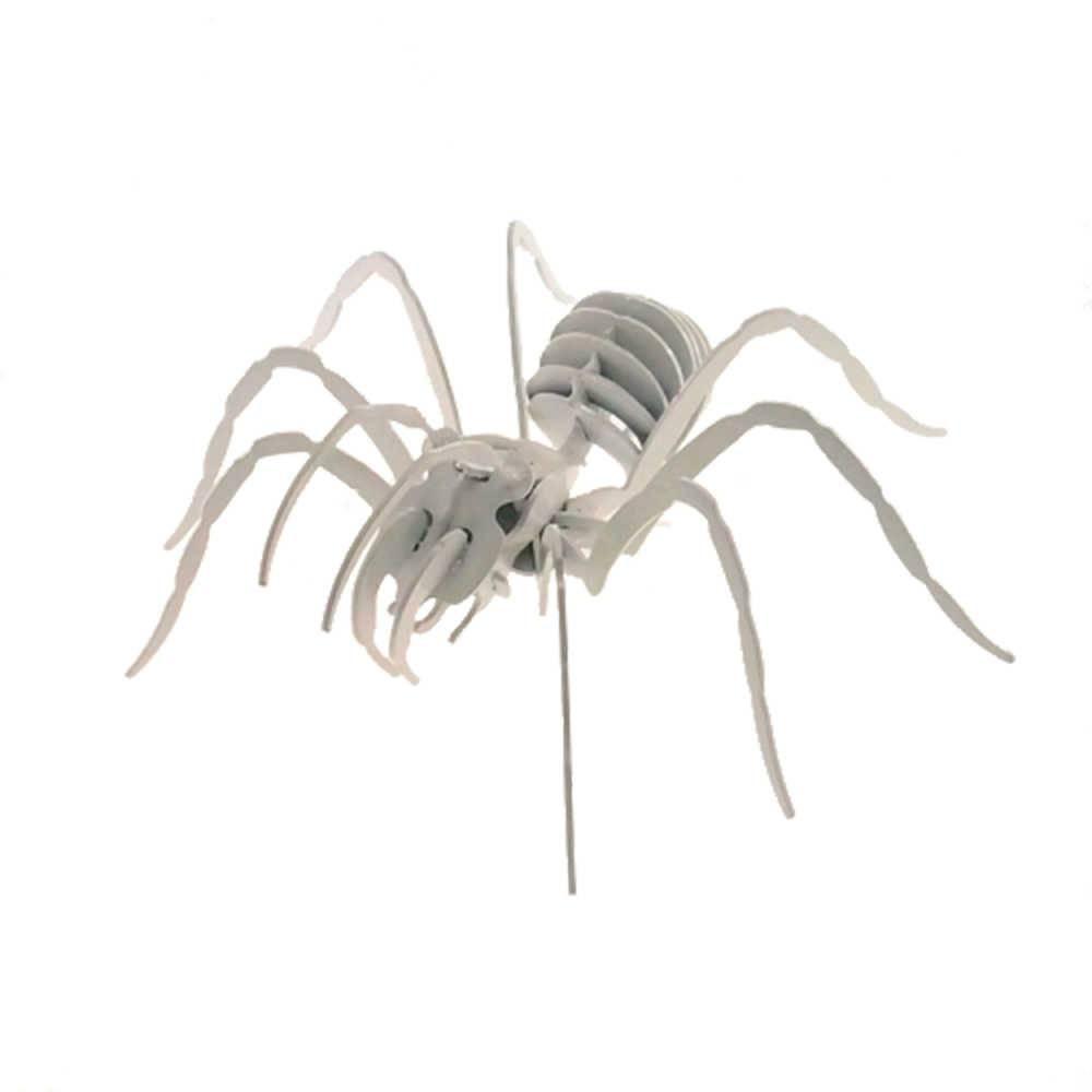 Aranha Decorativa 3D Branca Grande em Metal - 30x30 cm