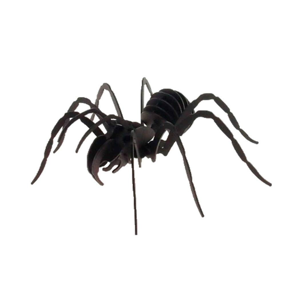 Aranha Decorativa 3D Preta Grande em Metal - 30x30 cm
