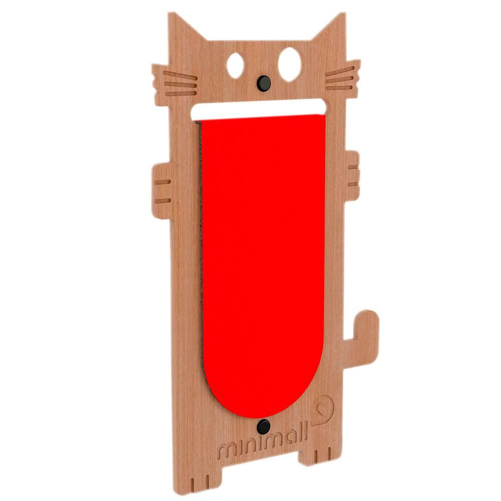 Arranhador para Gatos Cat Scratch Amêndoa em MDF - 53x29 cm