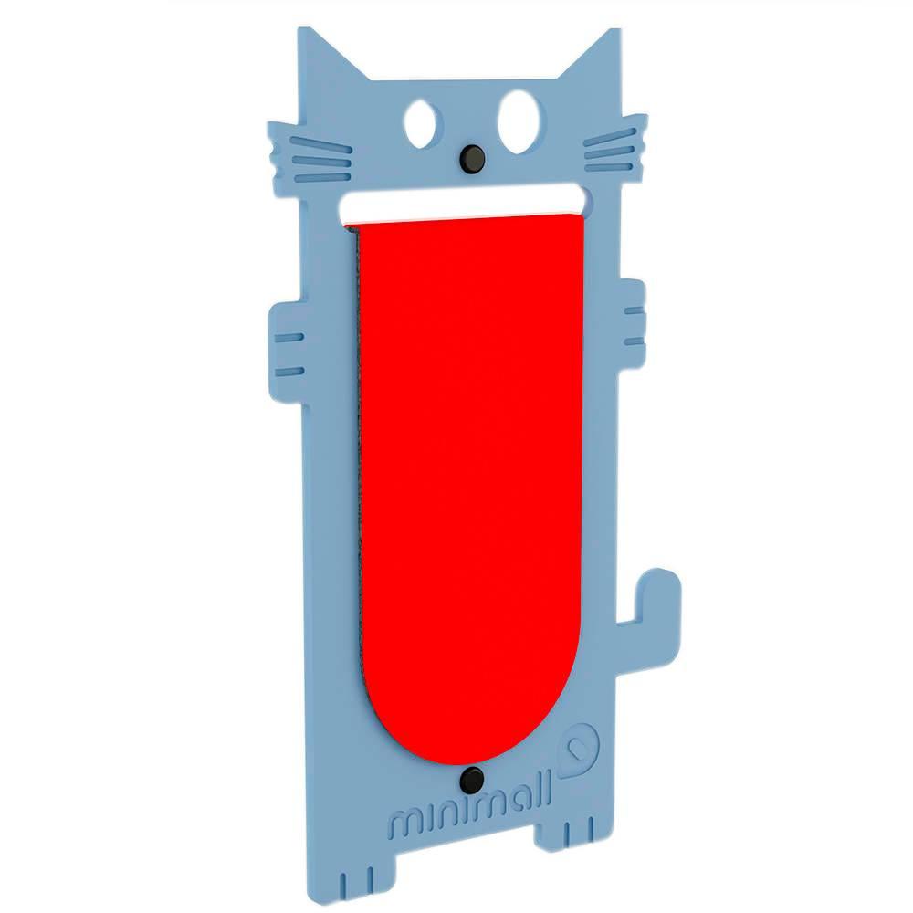 Arranhador para Gatos Cat Scratch Azul em MDF - 53x29 cm