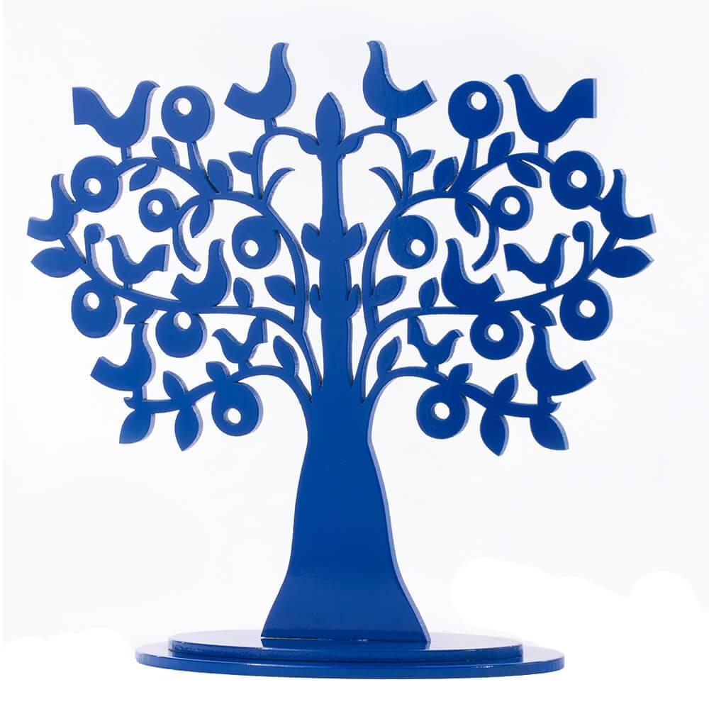 5f21b2828 Árvore Decorativa Dois Pássaros Azul Denin Média em MDF - Compre ...